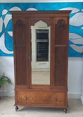 Gorgeous Antique Wardrobe / Armoire - Possibly Arts & Crafts
