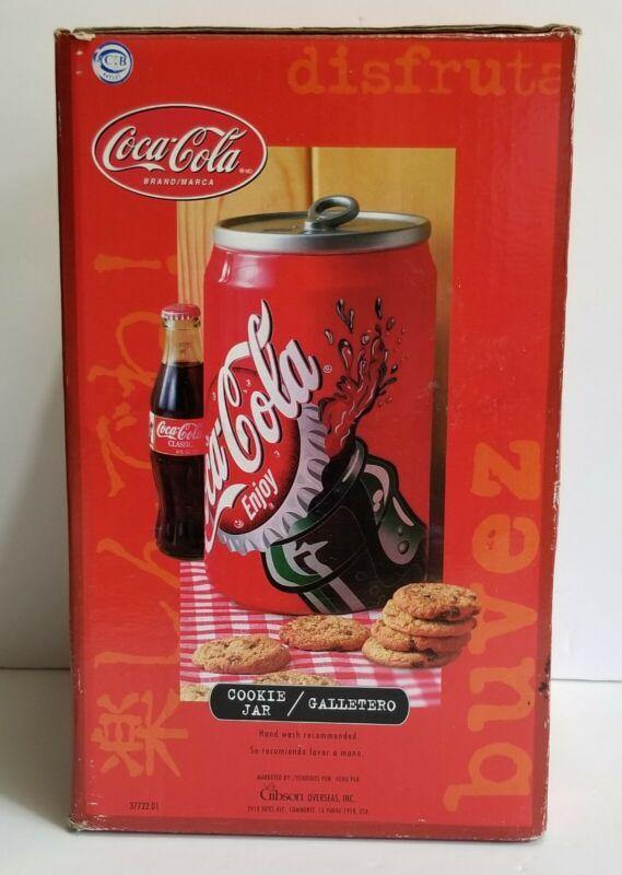 Vintage Gibson Coke Coca Cola Cookie Jar 2001 Ceramic Tin Can