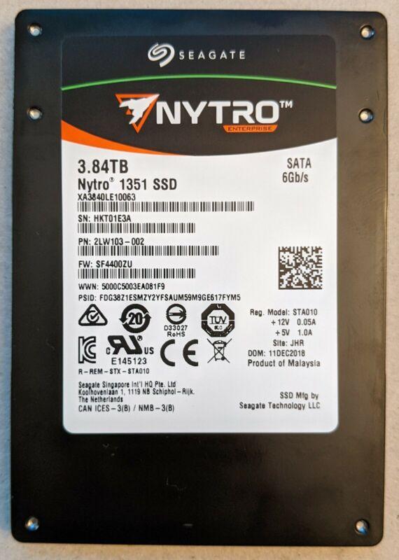 Seagate Nytro 1351 3.84TB SATA server/enterprise SSD XA3840LE10063