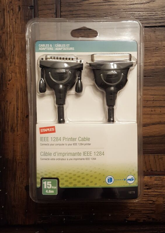 Staples IEEE 1284 Printer Cable - NEW