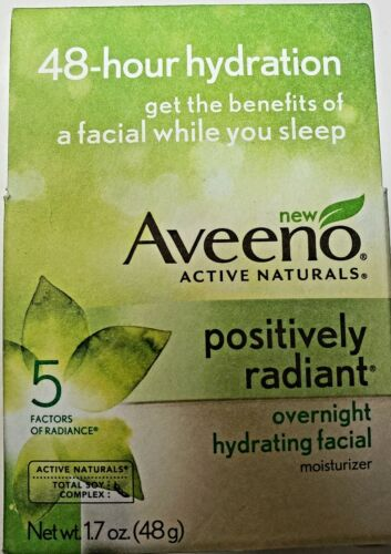 Aveeno Positively Radiant Overnight Hydrating Facial, 1.7 Ou