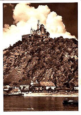 Die Marksburg bei Braubach am Rhein , Ansichtskarte 1956 gelaufen