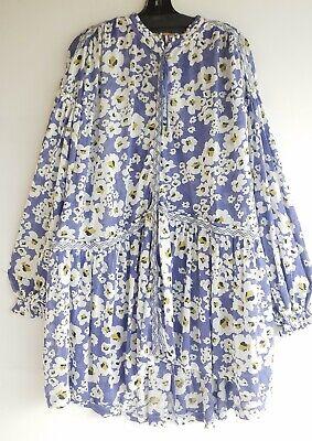 FREE PEOPLE Love Letter Rain Floral Long Sleeve Tunic Dress M Reg $128 NWT
