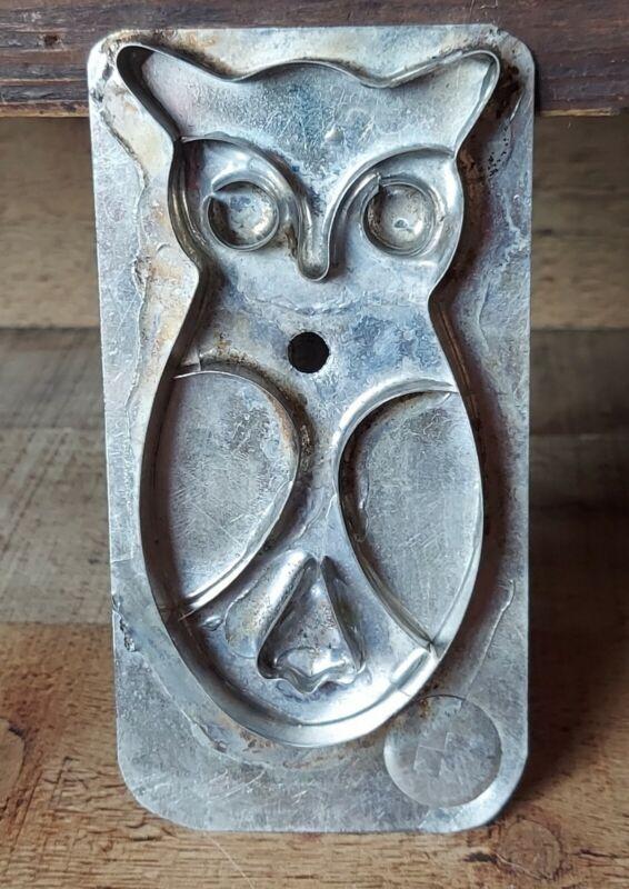 Tin Metal OWL Folk Art Cookie Cutter With Handle Horman Foose
