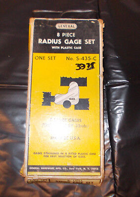 General Tools 8pc Radius Gage Set S-435-c 932-12 By 32nds Usa Machinist Tools