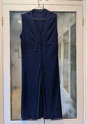 Jenny Dyer London Designer Navy Blue Dress M (UK 12)