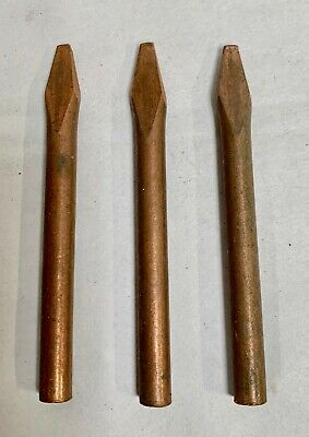3 Vintage Unused Copper Solder Iron Replacement Tip 38 Dia. A6