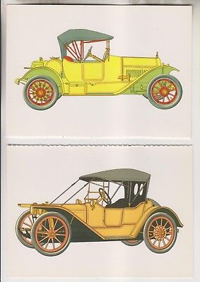 4 1992 POSTCARDS - ANTIQUE AUTOMOBILES BY CLARENCE P. HORNUNG