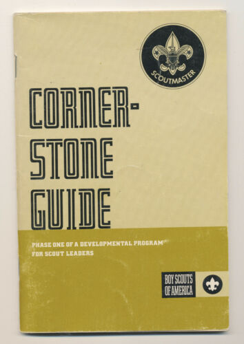 Vtg 1972 Cornerstone Guide Vintage Boy Scouts of America BSA Book