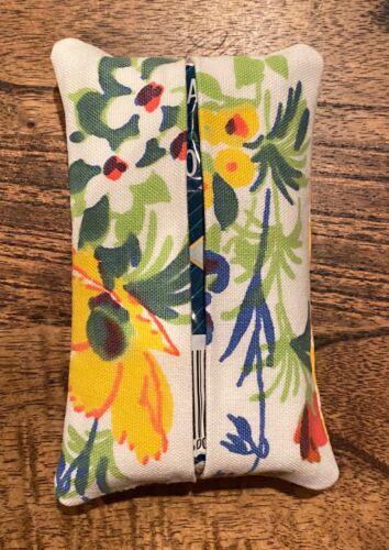 Vintage Tablecloth Pocket Purse Tissue Holder - Great Gift, Practical Use!