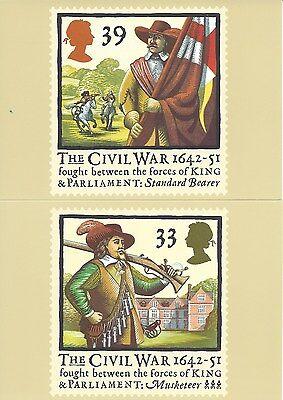 U.K. - THE CIVIL WAR 1992, A ROYAL MAIL STAMP CARD SERIES PHQ #144 - UNUSED
