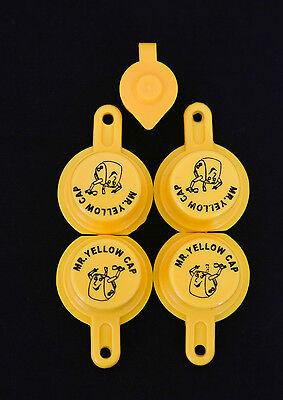 4x Blitz Yellow Spout Caps For Gas Can Spouts 900302 900092 900094 - Free Vent