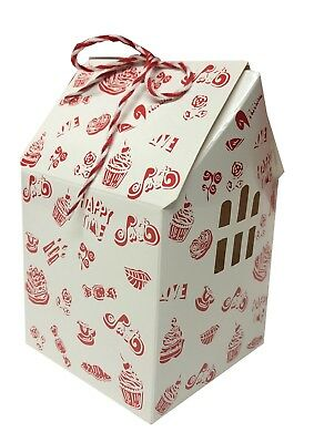 Cupcake Boxes Wholesale (Cupcake Boxes - Cupcake Boxes w/ Windows - 2 Sizes - Pack of 10 Small & 6)