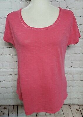 PURE + GOOD ANTHROPOLOGIE Tee Shirt Top Size Small Pink Oversized
