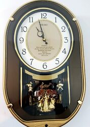 Seiko Moon & Stars ~7 SONG~ Melodies in Motion Animated Musical Wall Clock RARE!
