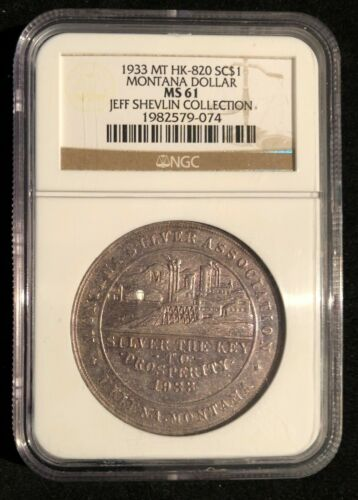 1933 SC$1 Montana So-Called Dollar HK-820 NGC MS61
