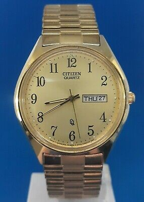 Mens Vintage Citizen Quartz Watch.FREE 3 DAY PRIORITY SHIPPING.