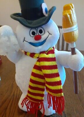 Rare Gemmy Plush Frosty The Snowman Animated Figure Sings Original voices