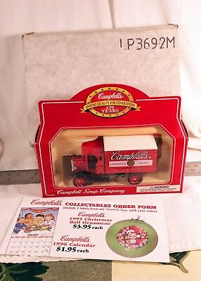 Campbells Soup Company Truck  125Th Anniversary Mail Away   Free Shipping