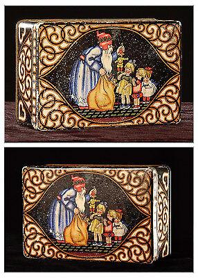 Weihnachtsdose antik wunderschön - Jugendstil, Blechdose, Santa Claus, ca. 1900