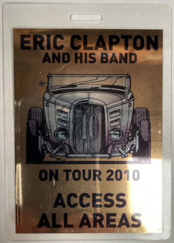 ERIC CLAPTON 2010 AAA LAMINATED BACKSTAGE PASS 32 FORD