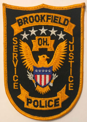 Brookfield Police Trumbull County Ohio Patch
