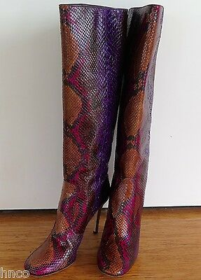 .Auth Jimmy Choo Tosca python knee boots size 39 1/2
