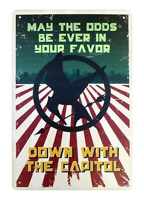 US SELLER, Hunger Games May The Odds Be Ever In Your Favor sign bar decor - Hunger Games Decorations