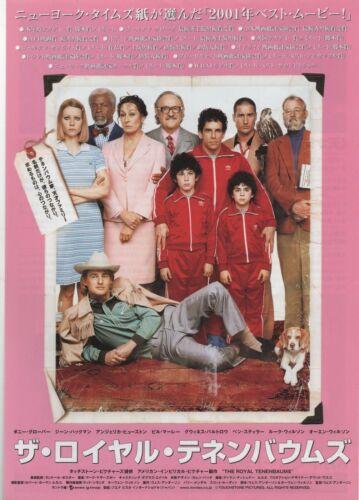 The Royal Tenenbaums 2001 Ben Stiller Japanese Chirashi Movie Flyer Poster