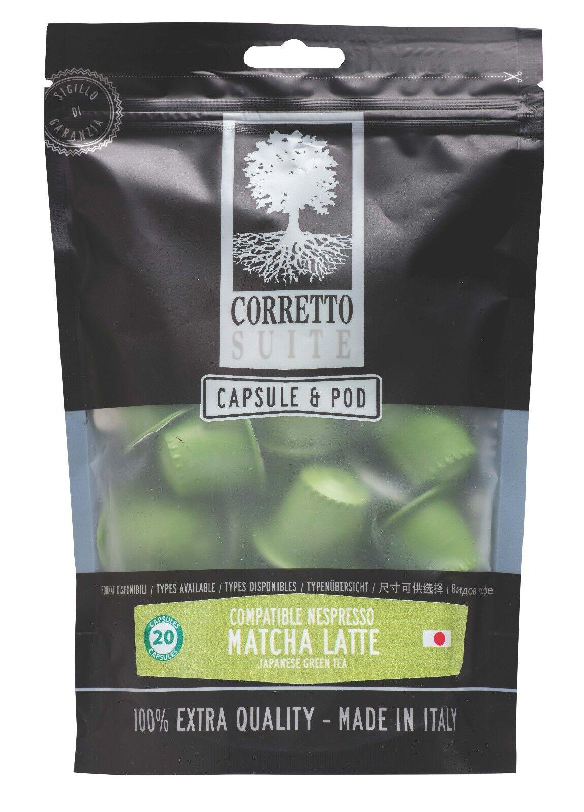 40 Nespresso Kapseln - pads Matcha Latte Japanisch Grün Tee Lattetaste 🇯🇵
