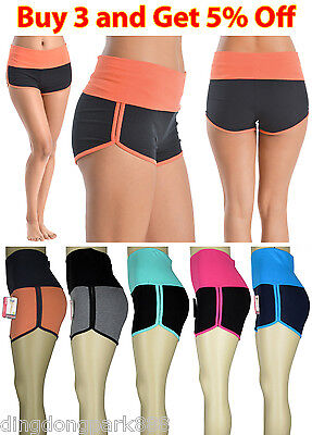 Women Ladies Athletic Yoga Tummy Control Compression Body Shaper Sports Shorts Activewear