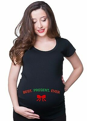 Best Christmas Gift T shirt pregnancy Maternity Tee T-Shirt for Pregnant Woman (Best Christmas Gifts For Pregnant Women)