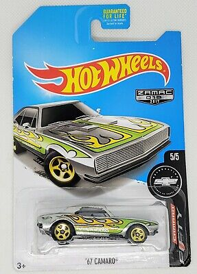 HOT WHEELS ZAMAC 2017 FIFTY CAMARO 5/5 '67 CAMARO ERROR CAR POST SPIN BROKE BASE