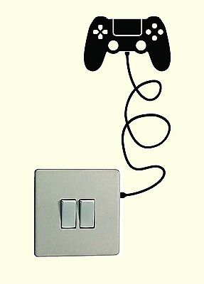 PS4 Controller light switch Vinyl Sticker Decal Playstation 4 Wall Stencil Decal