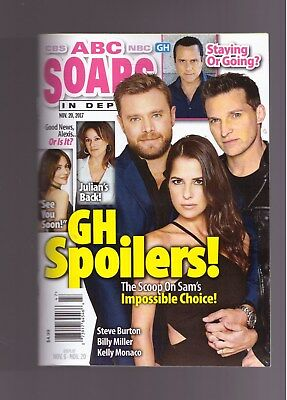 Abc Soaps In Depth General Hospital Gh Spoilers November 2017 Brand New