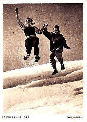 Sprung im Schnee , Ansichtskarte