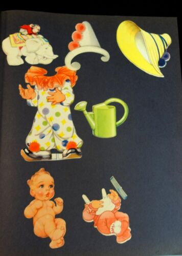 """8"""" German Art Deco Influenced Paper Doll - Susi & a Baby w 4 Costumes (Bride)"""