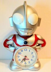 SEIKO Clock Ultraman Talking Alarm Clock - Japanese - Preowned US Stock