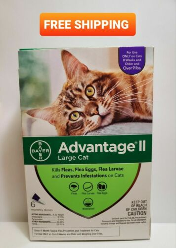 Advantage II for Large Cats Over 9 lbs - 6 Pack - FREE Shipping