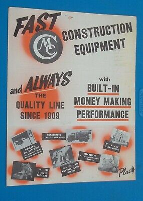 Vintage Construction Equipment Mailer Machinery Waterloo Iowa Mixers Pumps Saws