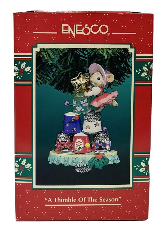1995 Enesco A Thimble Of The Season Christmas Ornament