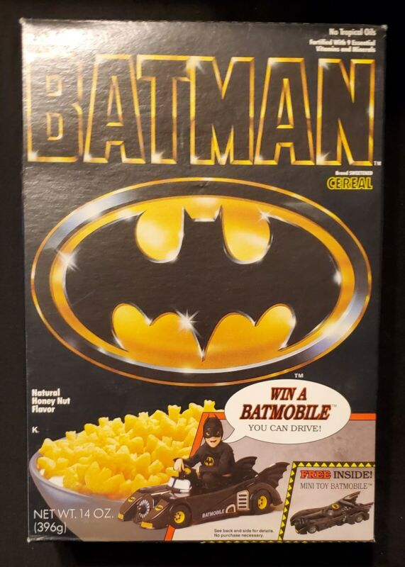 Vintage 1989 Batman Cereal Box Win A Bat Mobile Ralston Advertising