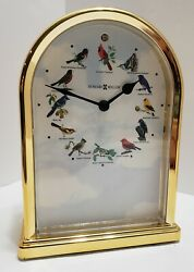 Howard Miller 645-405 Songbirds of North America III Table Clock Great Condition
