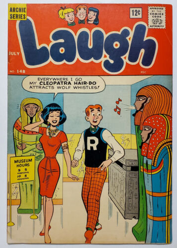 Laugh #148 (1963, Archie Comics) VG/FN Veronica Cleopatra Cover Early Josie