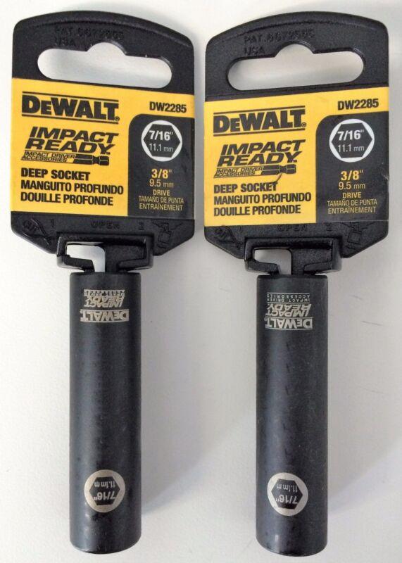 "Dewalt DW2285 Impact Ready Deep Socket 7/16"" 3/8 Drive (2PCS)"