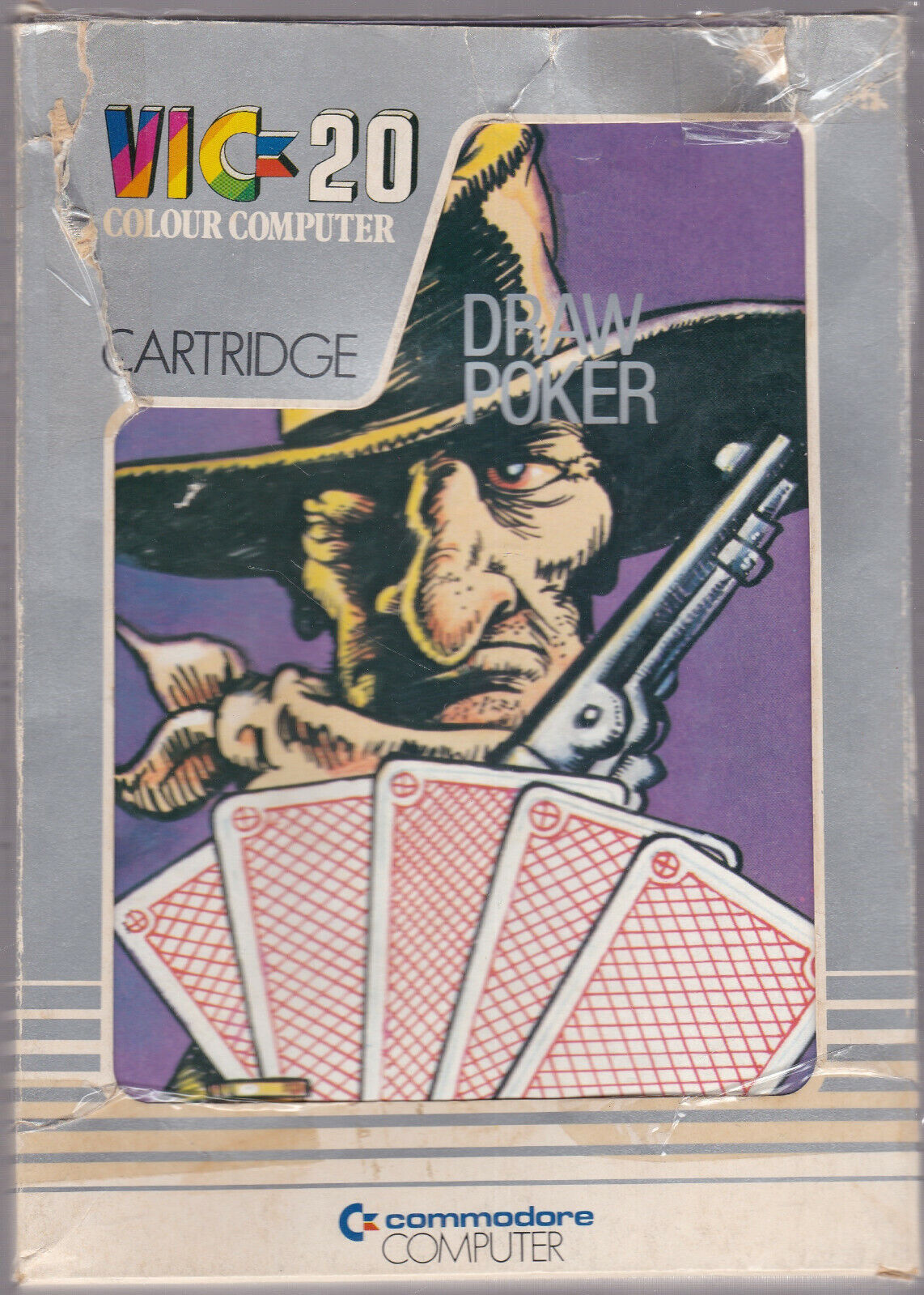 Computer Games - Commodore Vic-20 DRAW POKER Game Colour Computer Cartridge VIC-1908