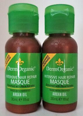 2 DermOrganic Intensive Hair Repair Masque with Argan Oil 2 x 1oz -Deluxe Sample ()