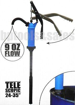 Adjustable Lever Action Drum Barrel Pump To Transfer Any Liquids 55 Gallon