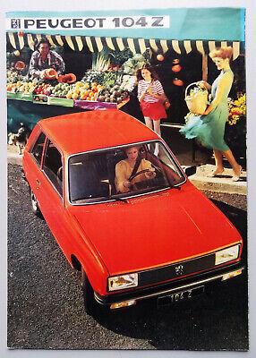 V17521 PEUGEOT 104Z - CATALOGUE - 1984 - A4 - FR