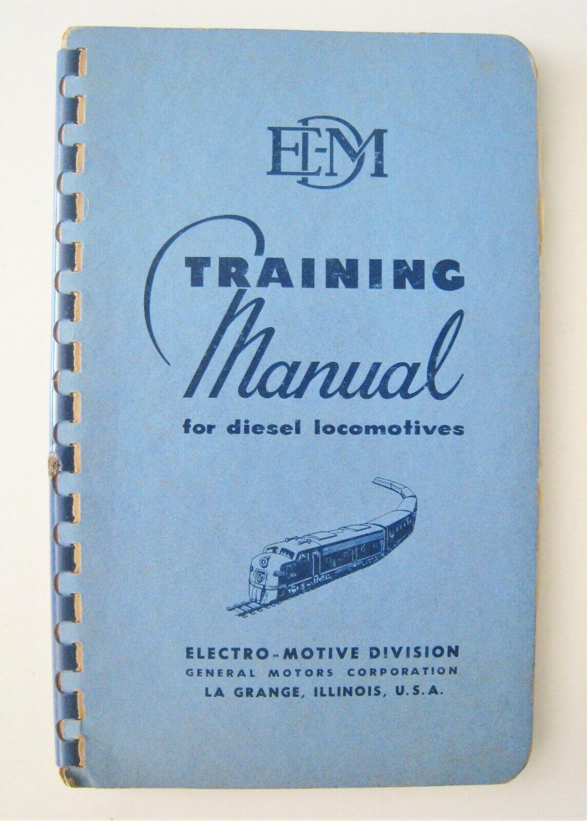 Vintage 1952 Electro-Motive General Motors GM EMD Training Manual Diesel Engines